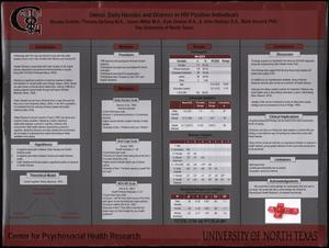 Primary view of object titled 'Denial, Daily Hassles and Distress in HIV Positive Individuals'.
