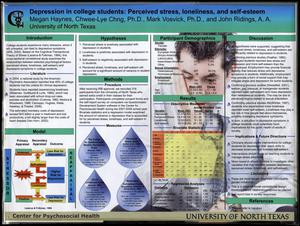 Depression in college students: Perceived stress, loneliness, and self-esteem