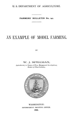 Primary view of object titled 'An Example of Model Farming'.