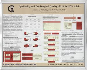 Primary view of object titled 'Spirituality and Psychological Quality of Life in HIV+ Adults'.