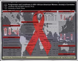 Primary view of object titled 'Forgiveness and Loneliness in HIV+ African-American Women: Anxiety's Correlates'.