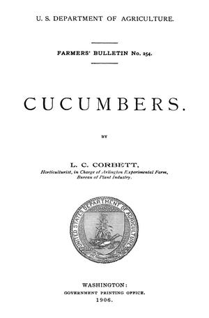 Primary view of object titled 'Cucumbers'.