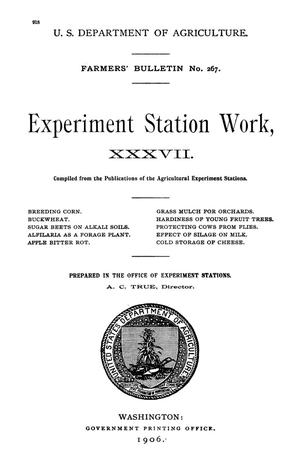 Primary view of object titled 'Experiment Station Work, [Volume] 37'.