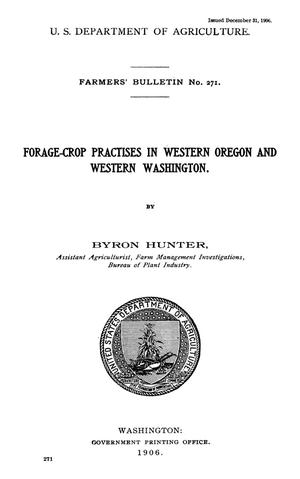 Primary view of object titled 'Forage-Crop Practices in Western Oregon and Western Washington'.