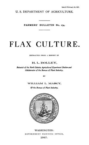 Primary view of Flax Culture