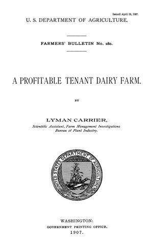 Primary view of object titled 'A Profitable Tenant Dairy Farm'.