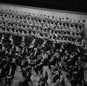 Primary view of object titled '[Grand Chorus and University Orchestra Concert]'.