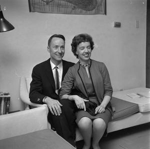 Primary view of object titled '[Portrait of Barbara and Don Colegrove]'.