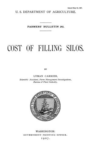 Primary view of object titled 'Cost of Filling Silos'.