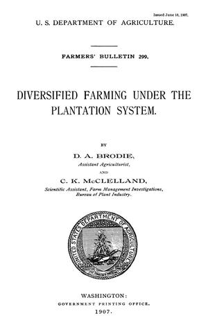 Primary view of object titled 'Diversified Farming Under the Plantation System'.