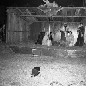 Primary view of object titled '[Christmas pageant manger 1962]'.