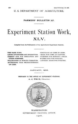 Primary view of object titled 'Experiment Station Work, [Volume] 45'.