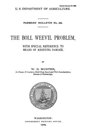 Primary view of object titled 'The Boll Weevil Problem, with Special Reference to Means of Reducing Damage'.