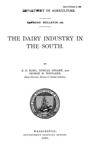 Primary view of object titled 'The Dairy Industry in the South'.