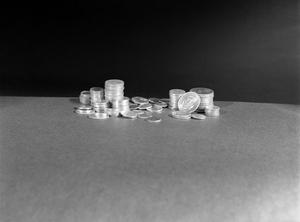 Primary view of object titled '[Stacks of coins 1978]'.