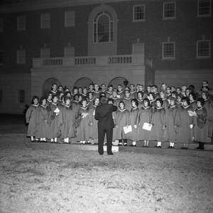 Primary view of object titled '[Choir singing at Christmas pageant 1962]'.
