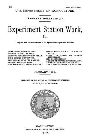 Primary view of object titled 'Experiment Station Work, [Volume] 50'.