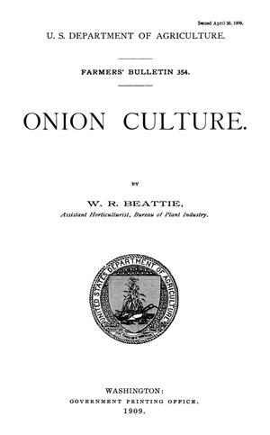 Primary view of object titled 'Onion Culture'.