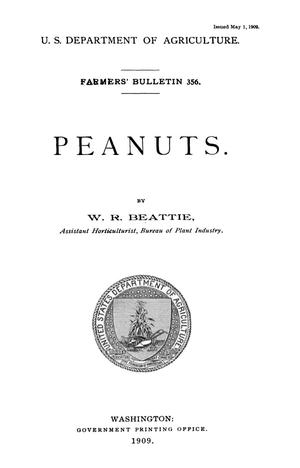 Primary view of object titled 'Peanuts'.