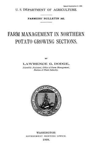 Primary view of object titled 'Farm Management in Northern Potato Growing Sections'.