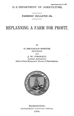 Primary view of object titled 'Replanning a Farm for Profit'.