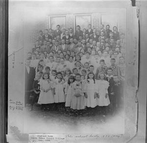 Primary view of object titled '[North Texas Normal College student body May 1895]'.