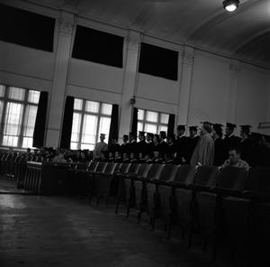 Primary view of object titled '[Graduates in the auditorium]'.