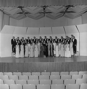Primary view of object titled '[A Cappella choir group shot]'.