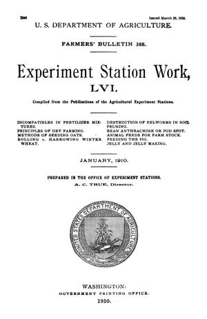 Primary view of object titled 'Experiment Station Work, [Volume] 56'.