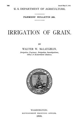 Primary view of object titled 'Irrigation of Grain'.