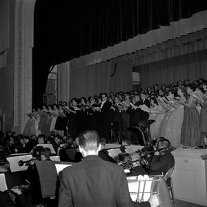 Primary view of object titled '[Grand Chorus performing a requiem]'.