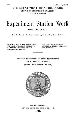 Primary view of object titled 'Experiment Station Work, [Volume] [61]'.