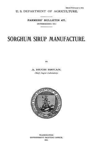 Primary view of object titled 'Sorghum Syrup Manufacture'.