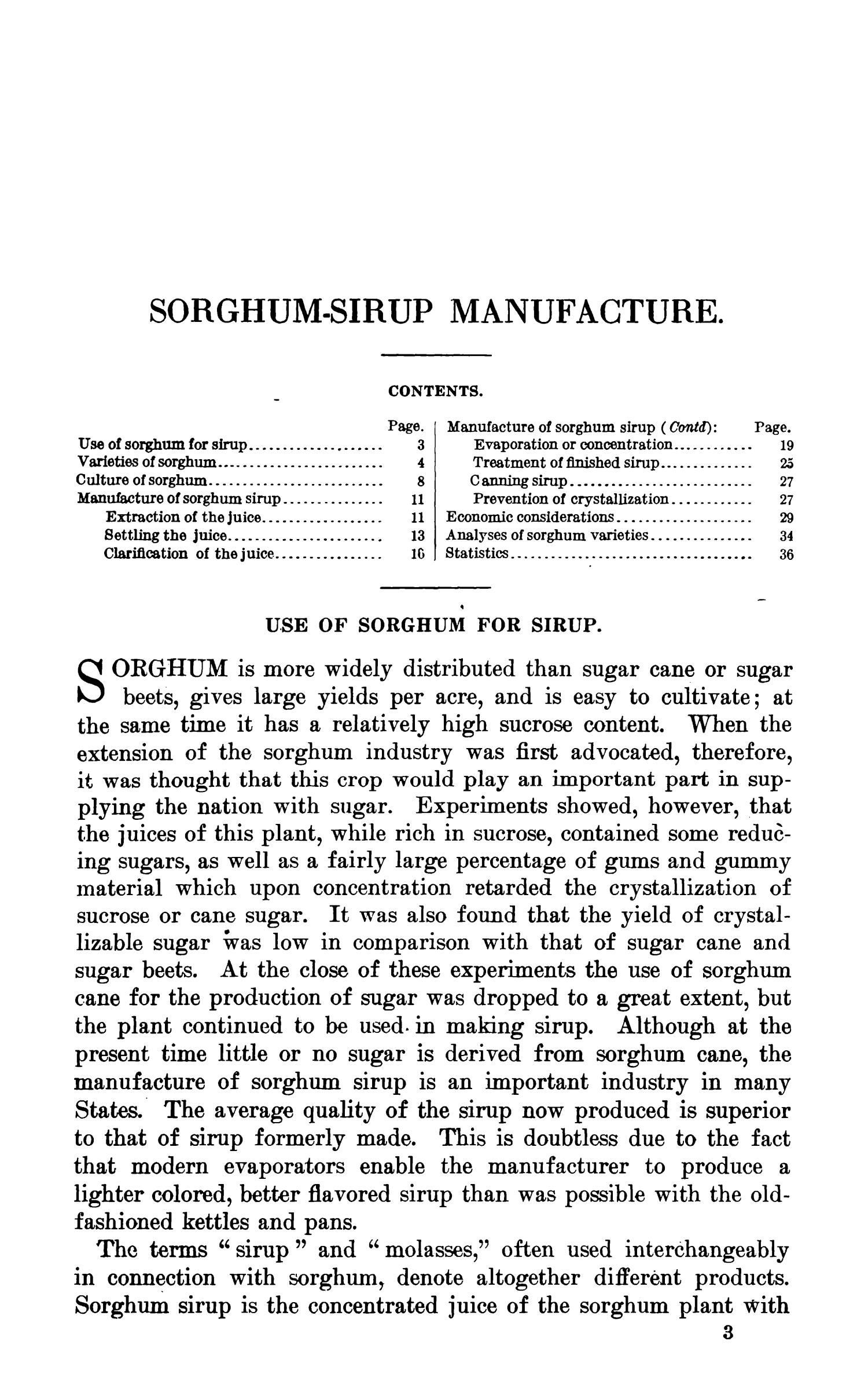 Sorghum-Syrup Manufacture                                                                                                      3