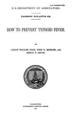 Primary view of object titled 'How to Prevent Typhoid Fever'.
