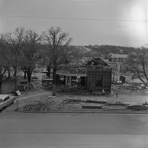 Primary view of object titled '[Clark Hall during construction]'.