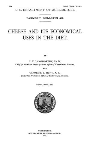 Primary view of object titled 'Cheese and Its Economical Uses in the Diet'.