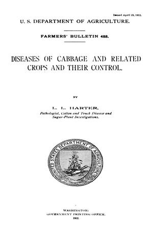 Primary view of object titled 'Diseases of Cabbage and Related Crops and Their Control.'.