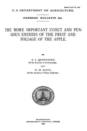 Primary view of The More Important Insect and Fungous Enemies of the Fruit and Foliage of the Apple