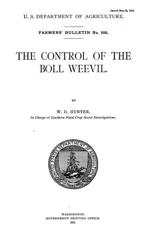 Primary view of object titled 'The Control of the Boll Weevil'.