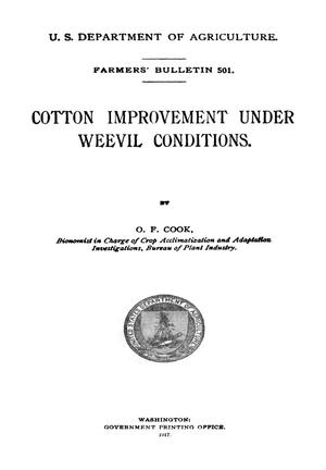 Primary view of object titled 'Cotton Improvement Under Weevil Conditions'.