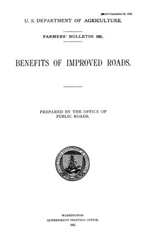 Primary view of object titled 'Benefits of Improved Roads'.