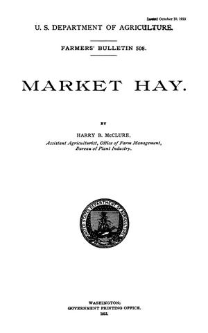 Primary view of object titled 'Market Hay.'.
