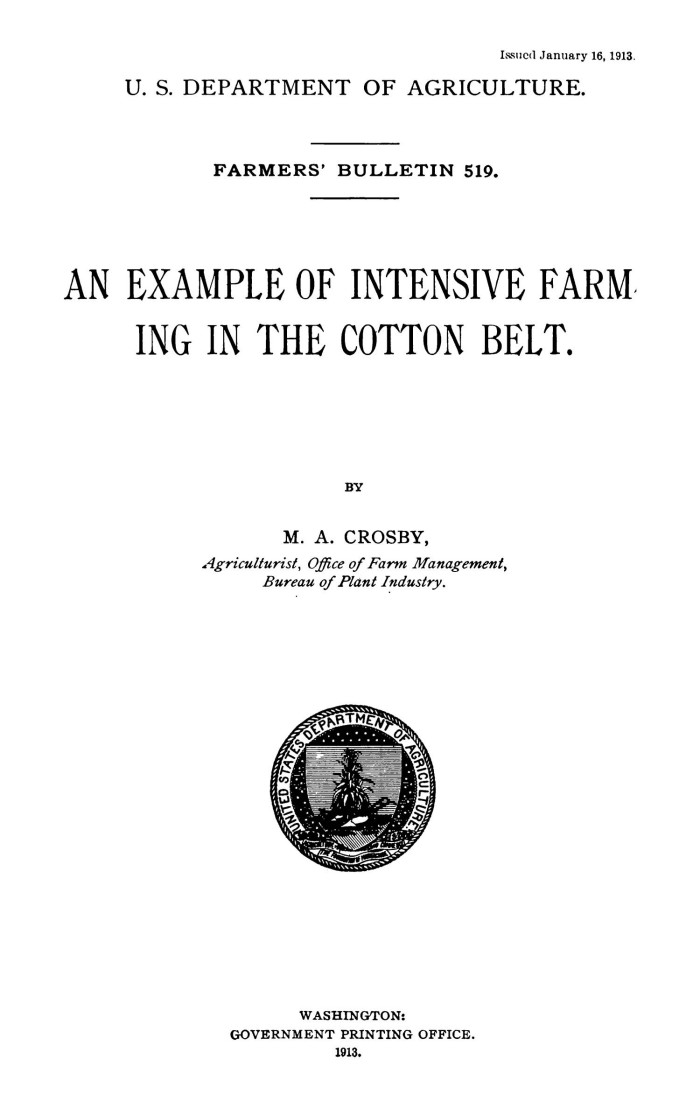 An Example of Intensive Farming in the Cotton Belt - Digital