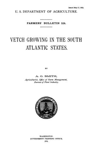 Primary view of object titled 'Vetch Growing in the South Atlantic States'.