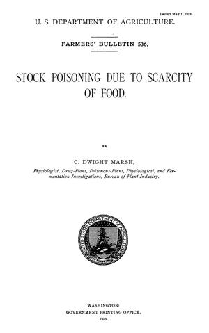 Primary view of object titled 'Stock Poisoning Due to Scarcity of Food'.
