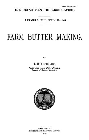 Primary view of object titled 'Farm Butter Making'.