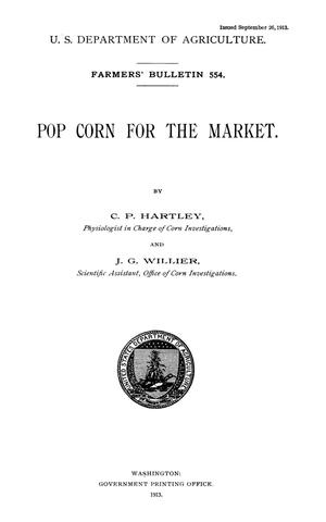 Primary view of object titled 'Popcorn for the Market'.