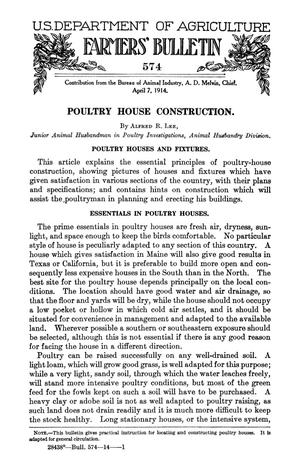 Primary view of object titled 'Poultry House Construction'.