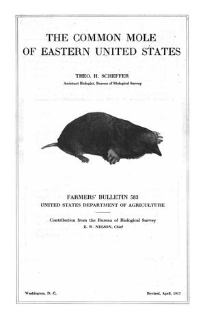 Primary view of object titled 'The Common Mole of the Eastern United States'.